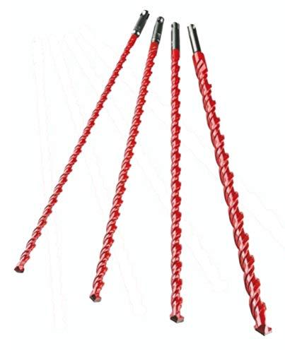 Alpen 57900004100 Bohrersatz Profi Multicut Set (4 teiliger Bohrer Satz 6, 8, 10, 12, 16 x 450 mm Schlagstopp) 0057900004100