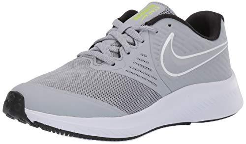 Nike Star Runner 2 GS, Zapatillas de Running Unisex Niños, Gris Wolf Grey/White/Black/Volt 005...
