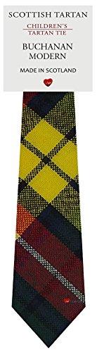 I Luv Ltd Garçon Tout Cravate en Laine Tissé et Fabriqué en Ecosse à Buchanan Modern Tartan
