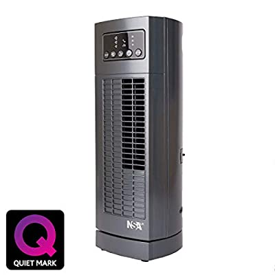 NSAuk MTF-30 Table Top Tower Fan with Quiet Mark Approval, Sleep Mode, Silent Oscillation, 35 W, Grey