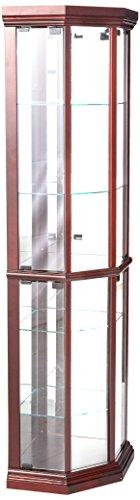 Acme 02347Martha Eck-Unterschrank, Cherry-Finish (Curio Decor Cabinet Glas Home)