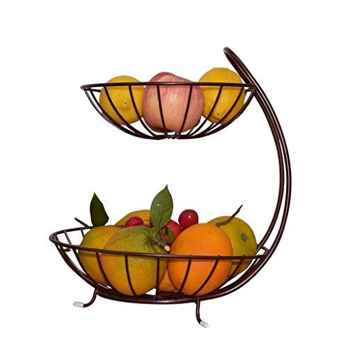 ZENGZHIJIE Regal Fruit Rack Bowl Dish - 2-stufiger Obstkorb für Snack/Nüsse/Candy Plate Tray ZUHAUSE Fruit Bowl Candy