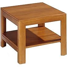 Dogar Kynus - Mesa rincon con estante, 45 x 55 x 55 cm, madera, color cerezo