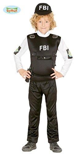 �r Kinder Polizist Polizeikostüm Cop SEK SWAT Gr. 110-152, Größe:140/146 (Halloween-kostüm Fbi-agent)