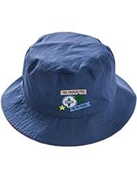 Tangda Chapeaux de Soleil Protection Bonnet Sous-marin En Coton Bord Vague Eté Casquette Panama Plage Pour Bébé Fille Garçon Camping 6mois-8ans Bleu