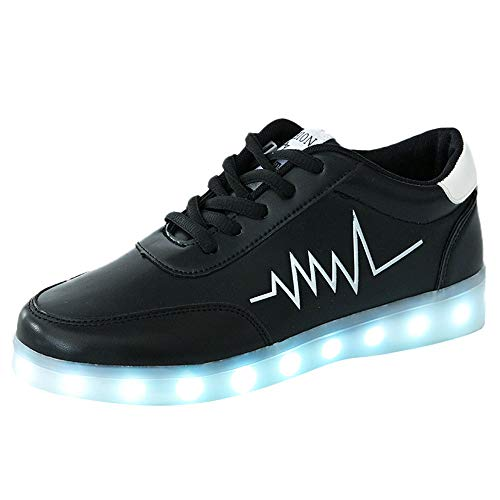 Mymyguoe Damen Sportschuhe USB-Ladegerät Glowing Luminous Tennis Baskets für Damen Erleichtern Atmungsaktive Turnschuhe Freizeitschuhe Wanderschuhe Hiking Sneaker Trekking Halbschuhe