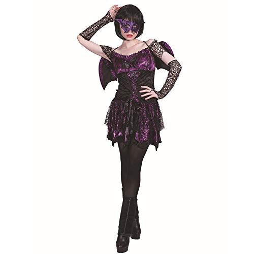 Mädchen Tierarzt Kostüm - HSKS Halloween Fledermaus Mädchen Cosplay Kostüm für alle Arten von Maskerade-S