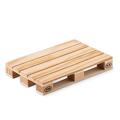PromotionGift sous Verre en Bois de pin en Forme de Mini Palette européenne, Bois