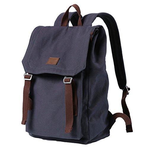 Männer Und Frauen Retro Canvas Rucksack Outdoor-Reisen Leichte Freizeit Rucksack Travel Bewegung Tasche Schulrucksack Laptop Rucksack Blue