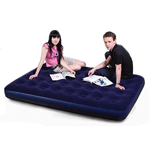 Materasso gonfiabile singolo doppio per aumentare l' aria esterna letto floccato ispessimento gonfiabile letto, 137*191*22cm