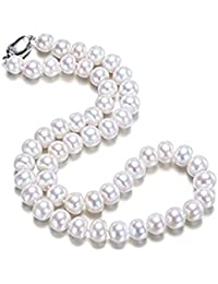 JYX Collar de Agua Dulce cultivado Blanco clásico ...