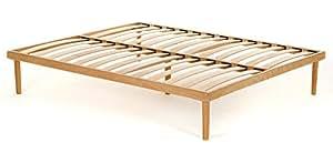 Rete Matrimoniale completamente in legno di faggio prima scelta misura 160x190 legno di faggio naturale - Materassimemory.eu