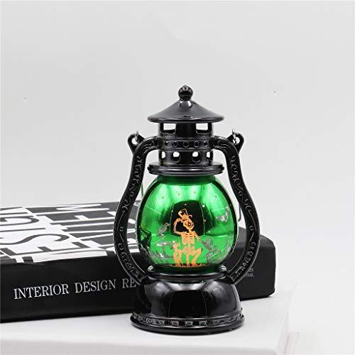 Sansee Halloween Lampion LED Lampe 16 * 7cm mit Knopf Batterie, Hängeleuchten, Halloween Dekoration Requisiten,bei Nacht Familie Garten Zimmer Halloween (Baby Tragen Led Kostüm)