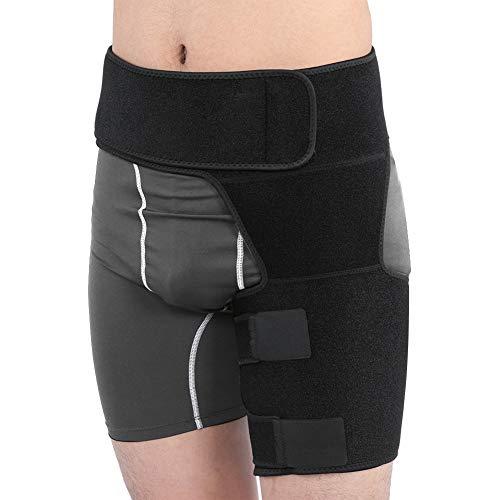Hüft Oberschenkelbandage, Verstellbare Kompressionsver Hüftbandage Hüft orthese aus Neopren, Unisex Oberschenkelstütze für Stabilisierung Hüft, Ischias Schmerzen Relief Gürtel