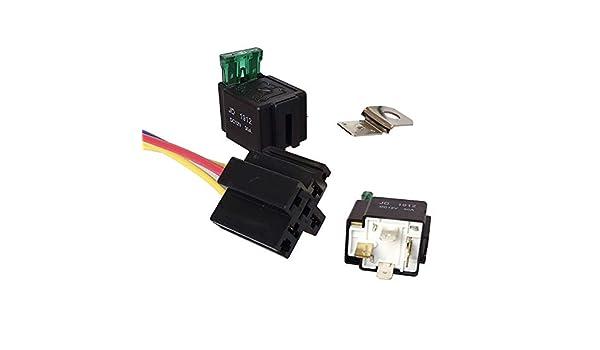 NAttnJf Rel/è automobilistico Fusibile Automatico automobilistico dellautomobile del rel/è elettronico di 12VDC 30A 4Pin con laccessorio dellincavo