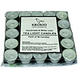 Krokio Wax Tea Light Candles (White, Set Of 50, Unscented, 12 Grams, With A Burn Time Up To 4 To 5 Hours,)