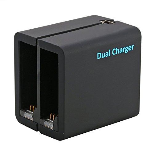 AFAITH-Caricabatteria-Doppio-rapido-Micro-Cavo-USB-Per-Gopro-Hero