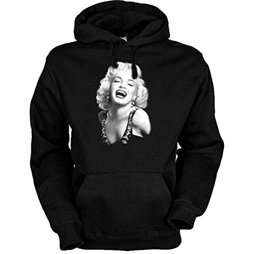 Kapuzenshirt - Happy - USA Hoodie mit Motiv als Geschenk für Marilyn Monroe (Marilyn Kleid Birthday Monroe Happy)
