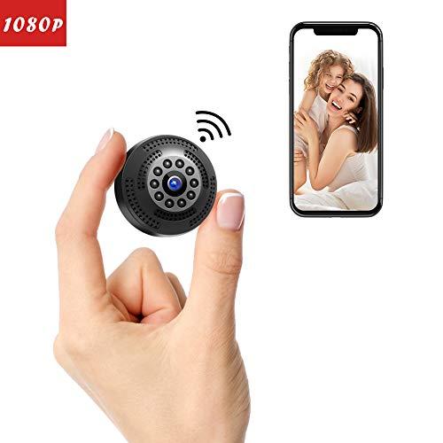 Victure Mini Kamera FHD 1080P,Tragbare kleine WLAN Überwachungskamera,Nanny Cam mit Bewegungserkennung und Infrarot Nachtsicht,Aufnahme während des Ladevorgangs,Wireless Weitwinkel Kamera (überwachungskamera Mini Wireless)