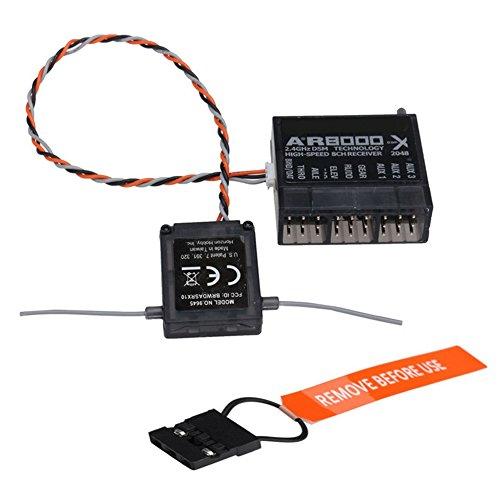 GZQ AR8000 8-Kanal-Empfänger, DSMX, erweiterte Antenne, unterstützt DX7s DX8 DX9 Dx18 2,4 GHz - Heim-stereo-empfänger-antenne