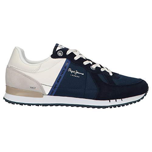 0bbbafd6ce4 Pepe Jeans London Herren Tinker Zero Seal Sneaker Blau (582midnight 582) 44  EU