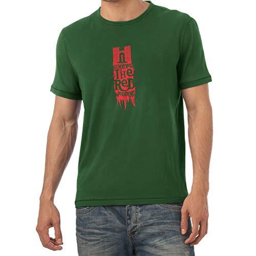 Texlab Herren Got: Survivor T-Shirt, Flaschengrün, XXL -