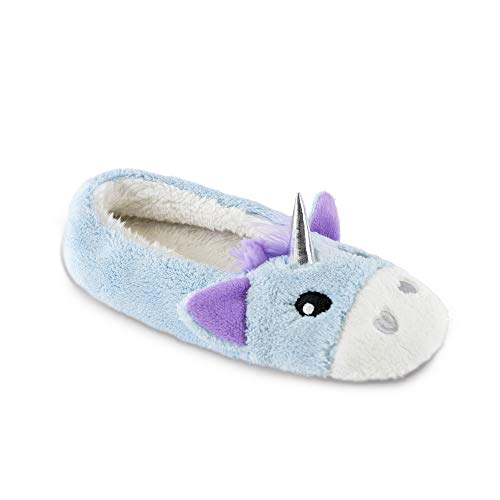 Womens Ladies Ballerina Slippers Ballet Flats Pumps Novelty Soft Faux Fur Gift Plush Lined Slipper with Fabric Non-Slip Sole