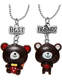 Lot de 2 colliers pour meilleures amies - Pendentifs en résine - Pour filles