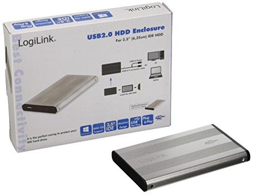 """LogiLink GEH. 6.3cm (2,5\"""") USB 2.0/ IDE Silber ALU o. NT"""