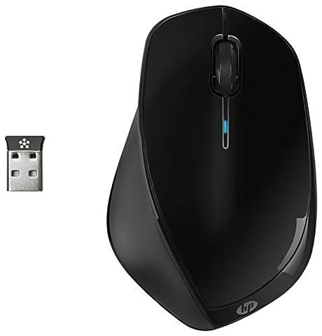 HP X4500 (H2W26AA) kabellose Maus (3 Tasten, USB-Anschluss, Lasersensor max 1600 CPI, Kabelloser USB-Receiver mit 2,4 GHz)