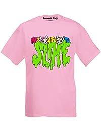 T-Shirt Maglietta Novita' -Slime- Me Contro Te Replica Sofi e Lui (Disp. in 2 Colori) 100% Cotone