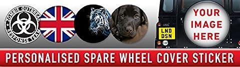 personnalisé Housse de protection pour roue de secours 4x 4Graphic Autocollant votre photo laminé