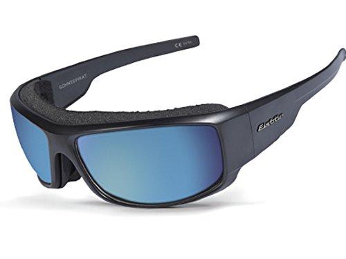 Eisbär Eyewear - Sonnenbrille Schneepirat für Damen und Herren | Polarisiert & Entspiegelt | Bruchsichere & Winddichte Sportbrille | UV Schutz 400 | Mit Hardcase-Aufbewahrung