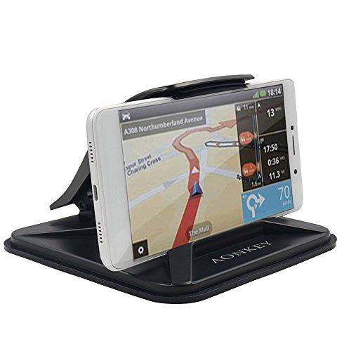 Aonkey Handyhalter für Auto, Armaturenbrett Auto Halterungen für iPhone XS X 8 7 6 6S Plus, Rutschfeste GPS-Halter Auto Wiegen für Galaxy Note 9 S9 S8 Plus und 3-7 Zoll Smartphones -