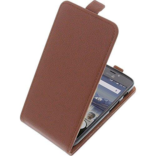 Tasche für Doro 8040 Smartphone Flipstyle Schutz Hülle braun