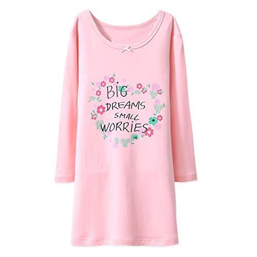 Blomde camicia da notte principessa ragazze pigiameria floreale rosa per 11-12 anni