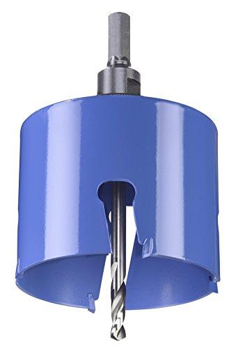 kwb Universal-Lochsäge - 85 mm Durchmesser-Größe, extra scharfe Zähne aus Hartmetall, 8 mm Zentrierbohrer