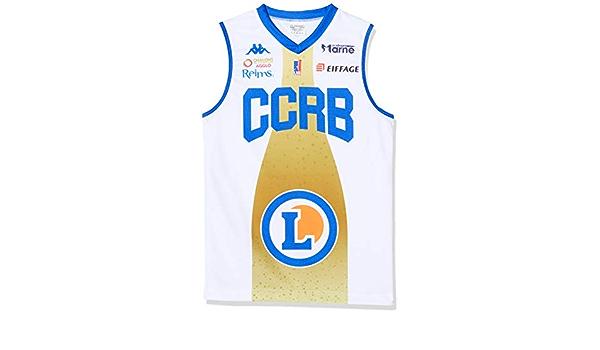 Mixte CCRB Reims Ch/âlons-Reims Maillot Officiel Domicile 2019-2020 Maillot de Basketball