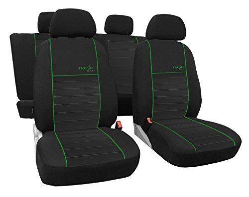 Preisvergleich Produktbild Autositzbezüge, Schonbezüge TREND LINE passend für SEAT IBIZA - Universal Stoffsitzbezug zum SONDERPREIS!!! In diesem Angebot GRÜN.