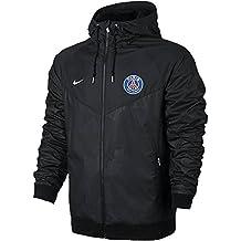 nike PSG M NSW WR WVN AUT CUP Chaqueta Paris Saint Germain Fc, Hombre, Negro / (Black / Pure Platinum), S