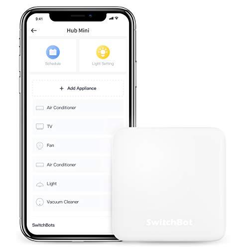 SwitchBot Hub Mini Smart Remote - IR Blaster, SwitchBot mit Wi-Fi verbinden, Klimaanlage steuern, Kompatibel mit Alexa Google Home Siri IFTTT