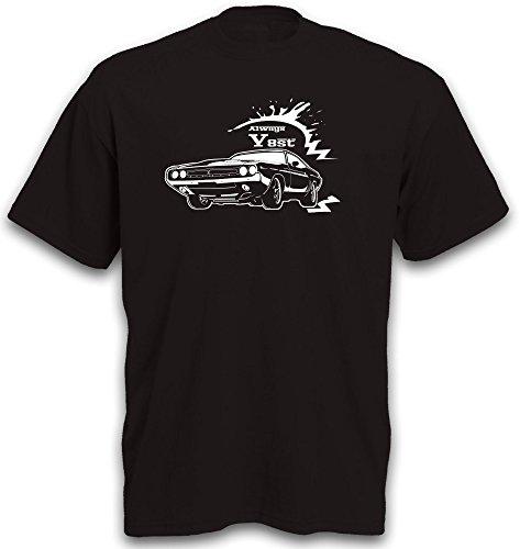 Challenger Motiv T-Shirt Uscar Musclecar Youngtimer Auto Shirt Gr. L (Challenger Ersatzteile Und Zubehör)