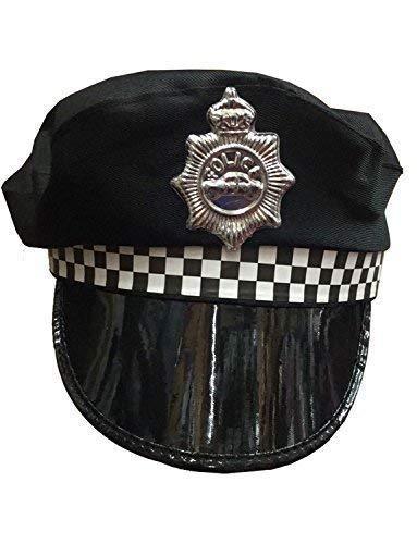 Chapeau Police Déguisement Adulte Femme Homme Noir Blanc WPC Cuivre