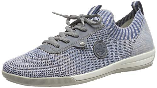 Rieker Damen M3059-12 Sneaker, Blau (Blue-Rose/Adria/Clear 12), 38 EU