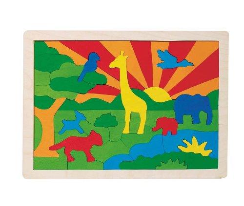 Goki 57990 - Einlegepuzzle - Dschungel