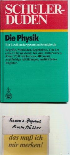 Buchcover: Schüler-Duden. Die Physik. Ein Lexikon der gesamten Schulphysik.