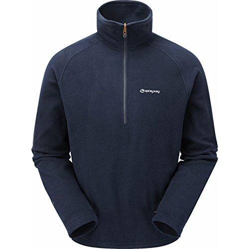 Sprayway Mens Santiago Lightweight Half Zip Fleece Pullover Top Half Zip Lightweight Pullover