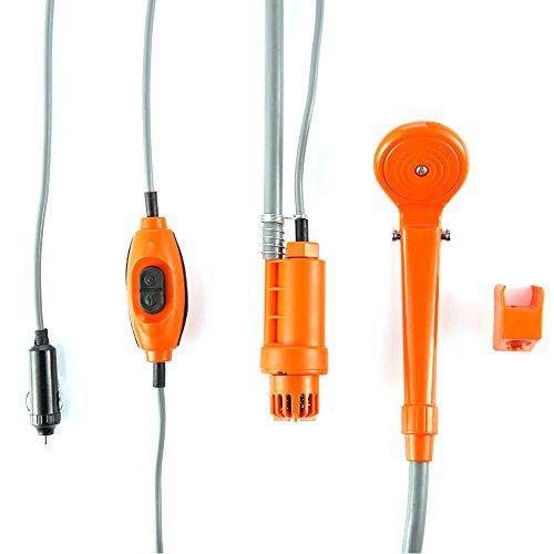 HOMYY Autodusche, tragbare Campingdusche mit Duschkopf, 2 m Schlauch und 4 m USB-Kabel, DC 12 V Auto-Duschkopf, für Outdoor-Reisen, Autos, Haustierwäsche