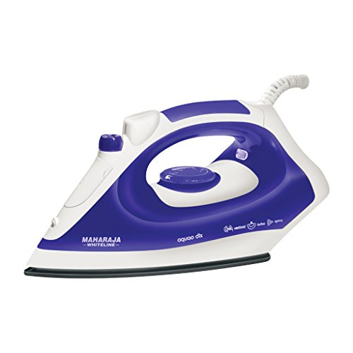 Maharaja Whiteline Aquao Deluxe SI-102 1400-Watt Steam Iron (White/Blue)