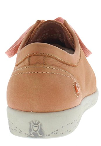 Softinos Isis washed leather, Derbies à lacets femme Salmon